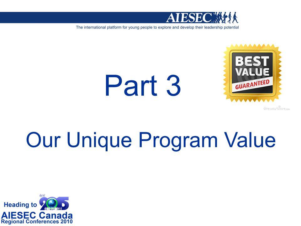Part 3 Our Unique Program Value