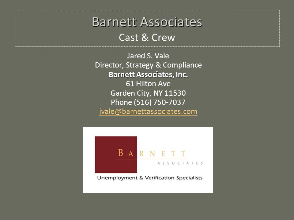 Barnett Associates Barnett Associates Cast & Crew Jared S.