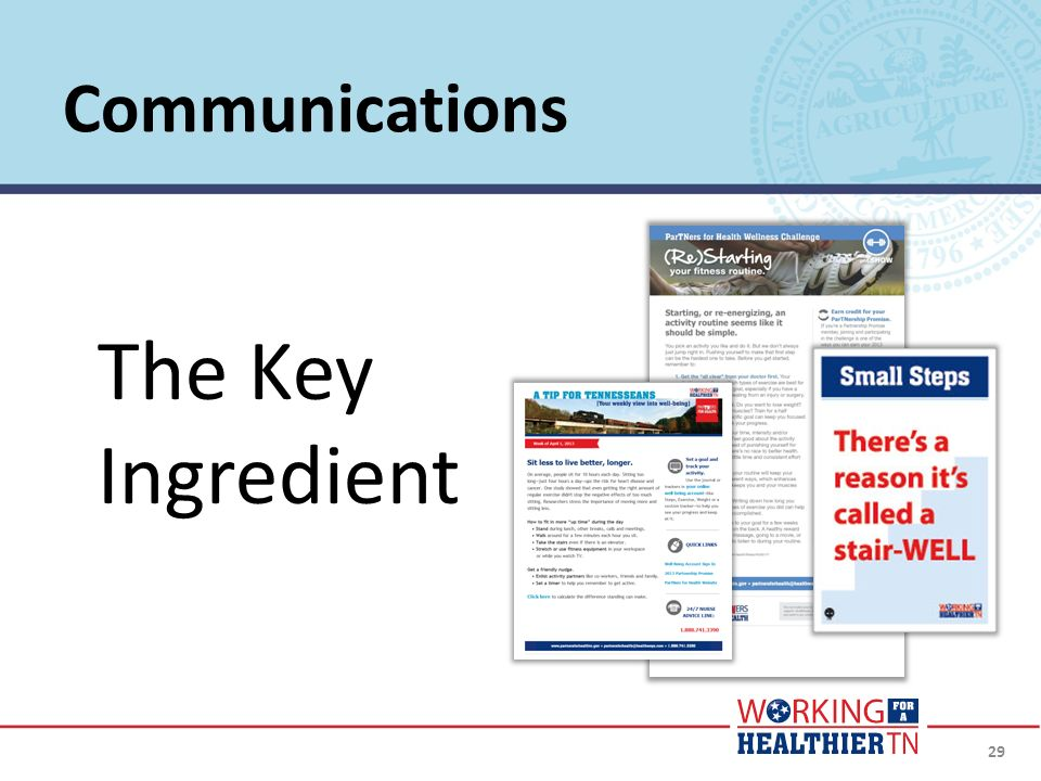 29 Communications The Key Ingredient