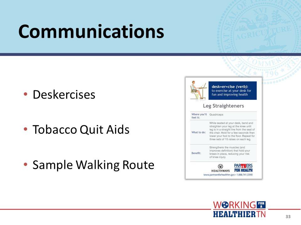 33 Deskercises Tobacco Quit Aids Sample Walking Route Communications