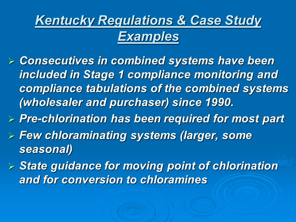 Consecutives in combined systems have been included in Stage 1 compliance monitoring and compliance tabulations of the combined systems (wholesaler an