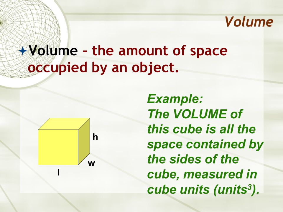 Volume Now to find the volume… We must then multiply the area of the base (B) by the height (h) of the prism.