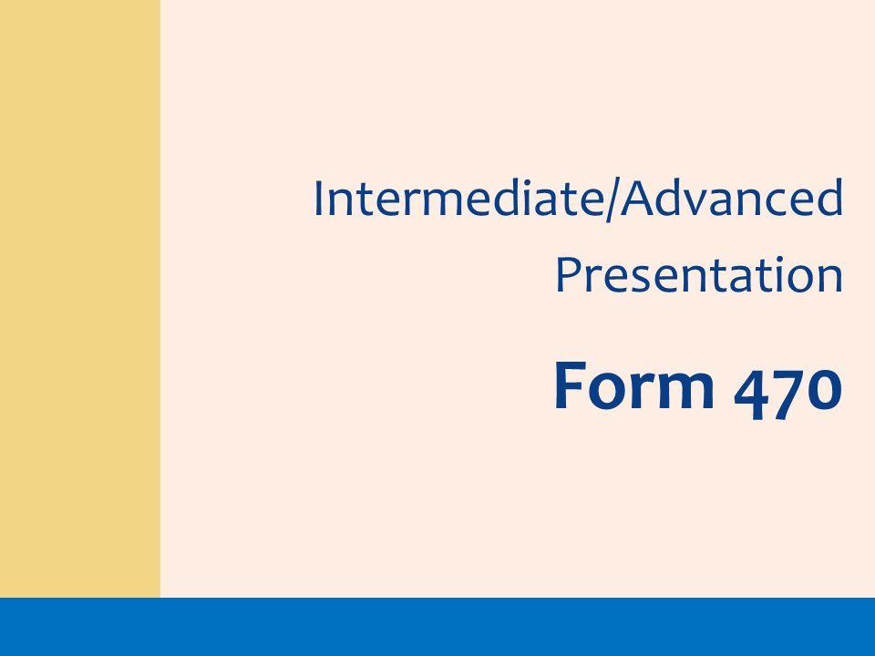 Intermediate/Advanced Presentation Form 470