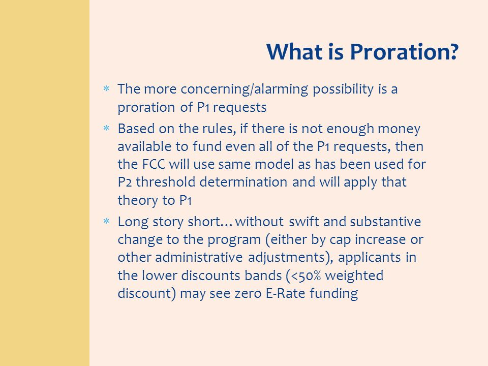 What is Proration? The more concerning/alarming possibility is a proration of P1 requests Based on the rules, if there is not enough money available t