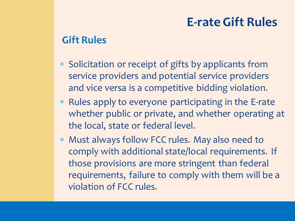 Solicitation or receipt of gifts by applicants from service providers and potential service providers and vice versa is a competitive bidding violatio