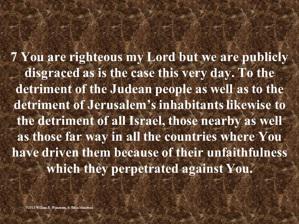 2013 William E. Wenstrom, Jr. Bible Ministries