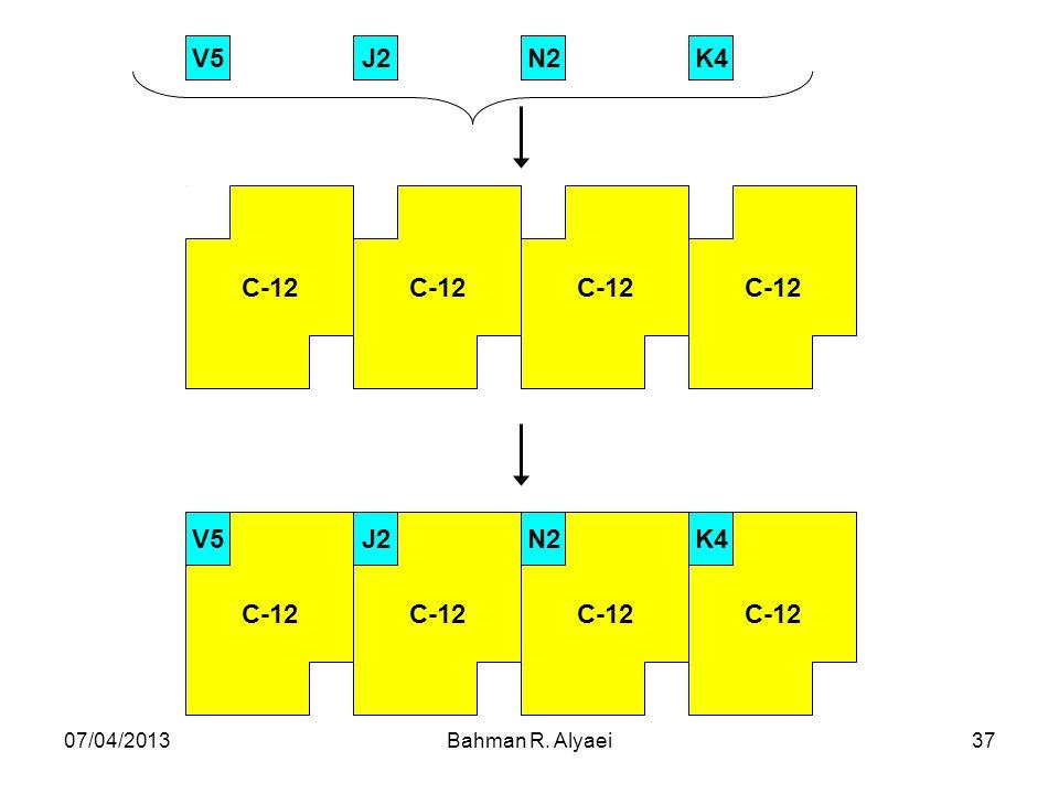07/04/2013Bahman R. Alyaei37 C-12 K4N2J2V5 C-12 K4N2J2V5