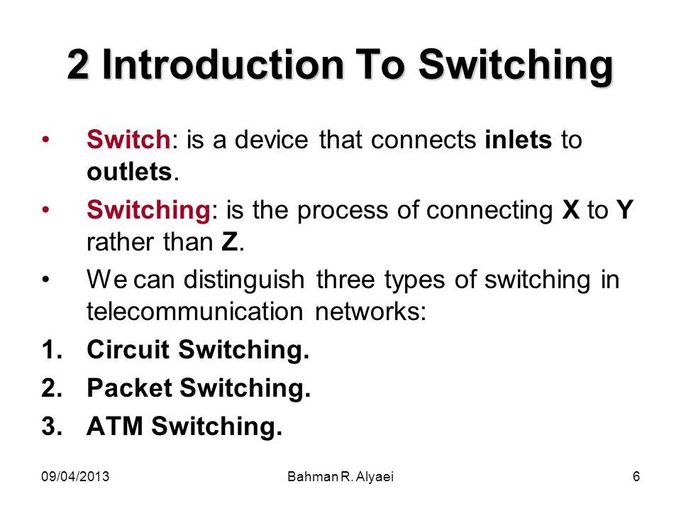 09/04/2013Bahman R.Alyaei27 Continue… Time-switch, time-slot interchange (T).