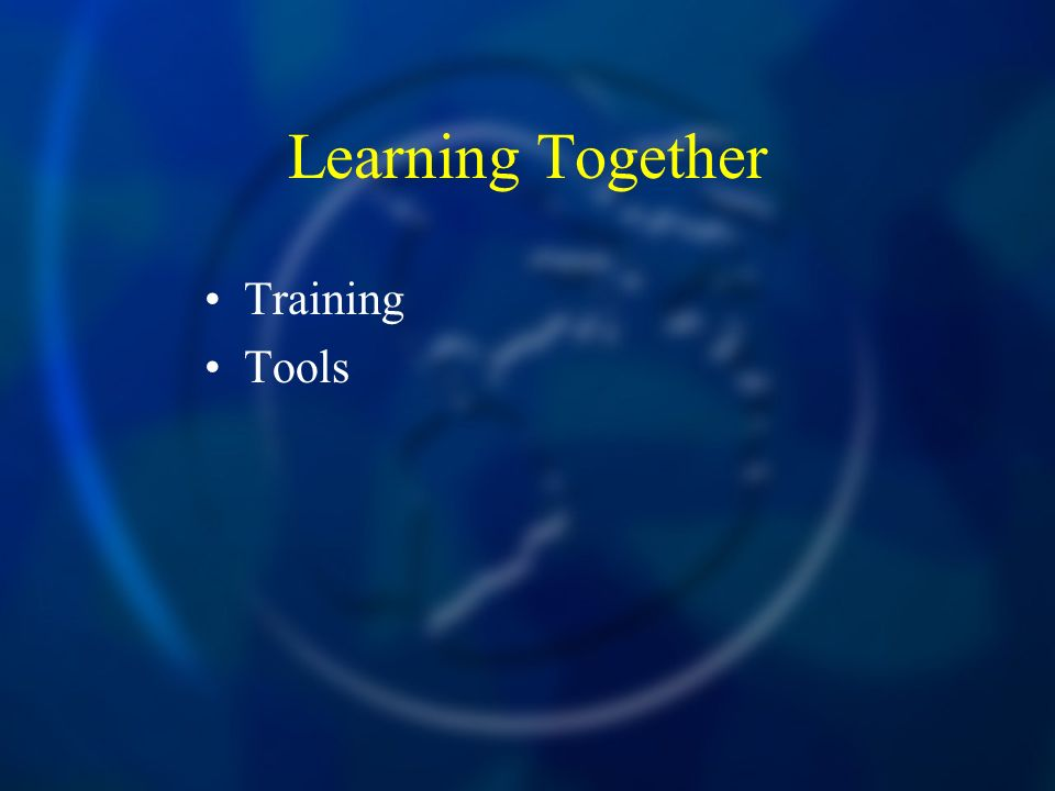 Learning Together Training Tools