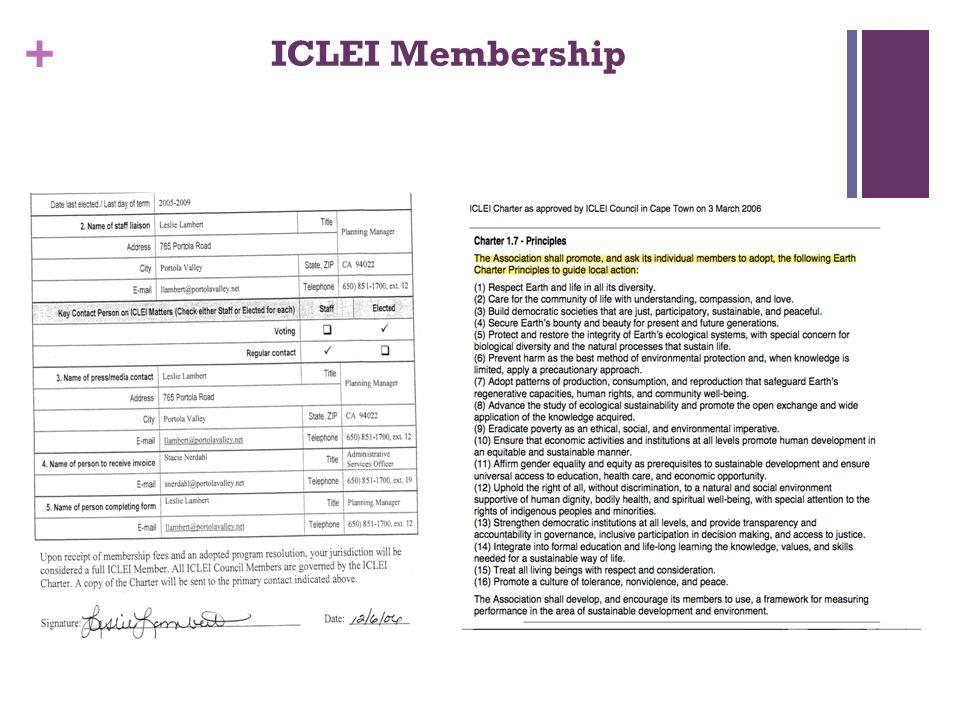 + ICLEI Membership