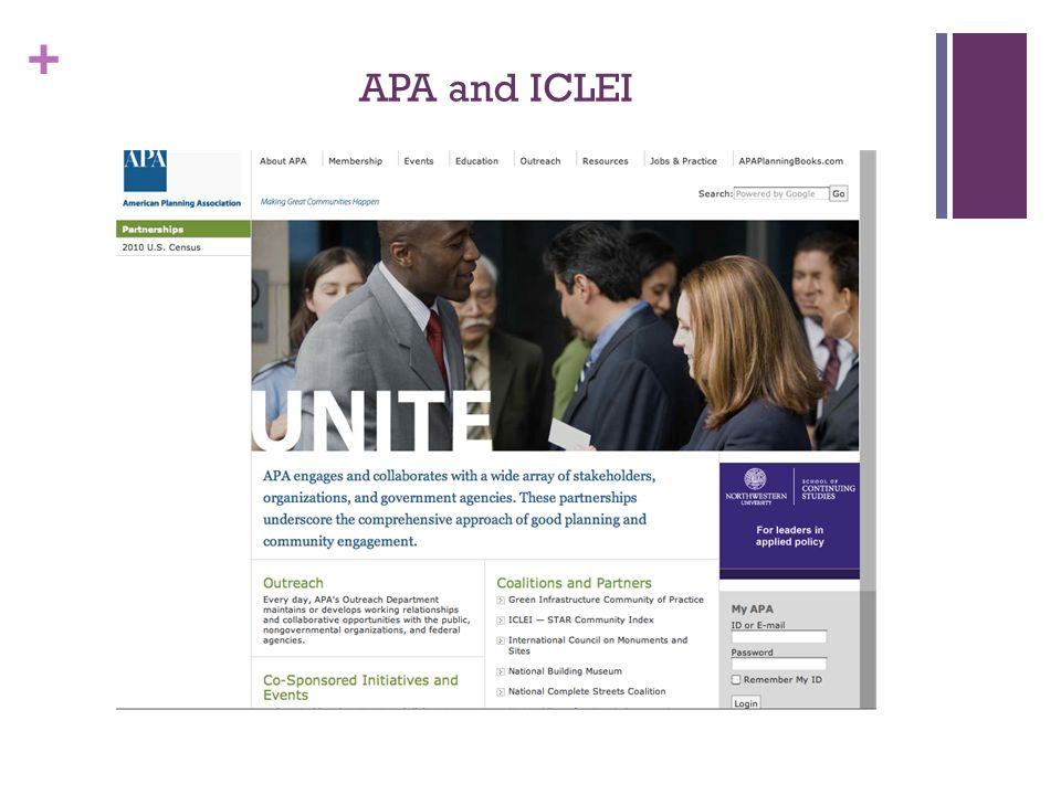 + APA and ICLEI