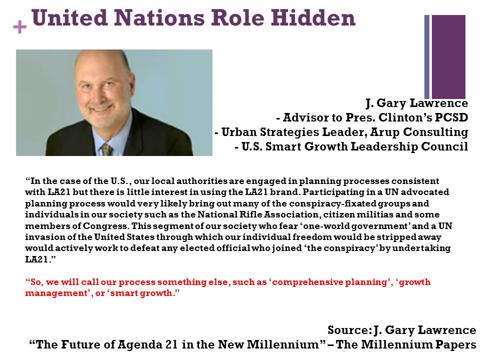 + United Nations Role Hidden J.Gary Lawrence - Advisor to Pres.