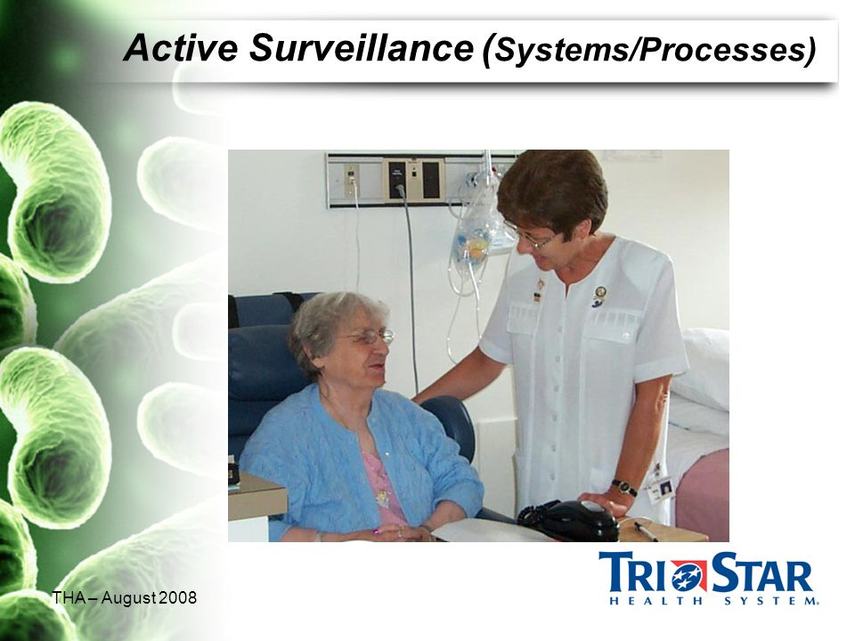THA – August 2008 Active Surveillance ( Systems/Processes)