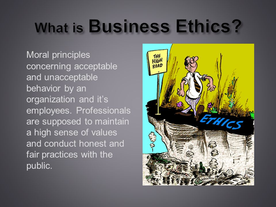 What is Business Ethics.