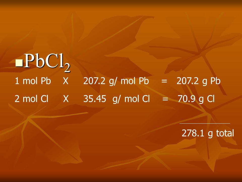 137.33 g Ba 28.00 g N 96.00 g O 261.33 g total X 100 = 261.33 g total X 100 = 261.33 g total X 100 = 52.6 % Ba 10.7 % N 36.7 % O