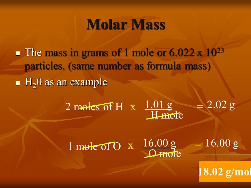 Formula Mass NaCl NaCl H 2 SO 4 H 2 SO 4 MgCl 2 MgCl 2 HCl HCl 58.44 amu 58.44 amu 98.09 amu 98.09 amu 95.21 amu 95.21 amu 36.46 amu 36.46 amu