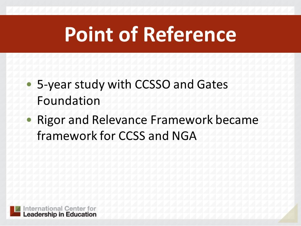 Common Core State Standards Content VS. Instruction