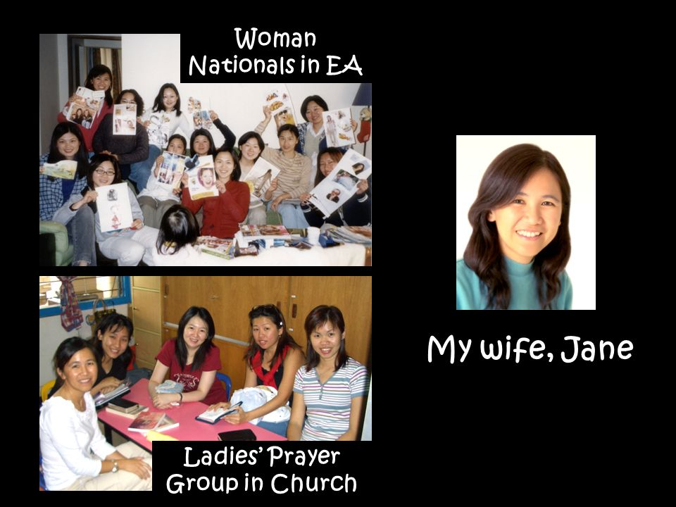 Woman Nationals in EA Ladies Prayer Group in Church My wife, Jane