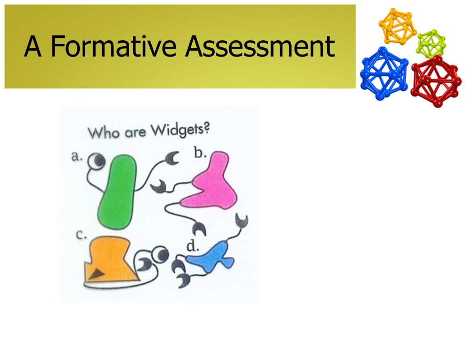 A Formative Assessment