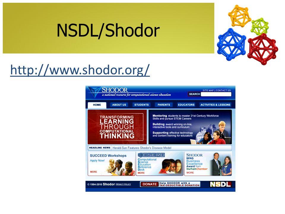 NSDL/Shodor http://www.shodor.org/