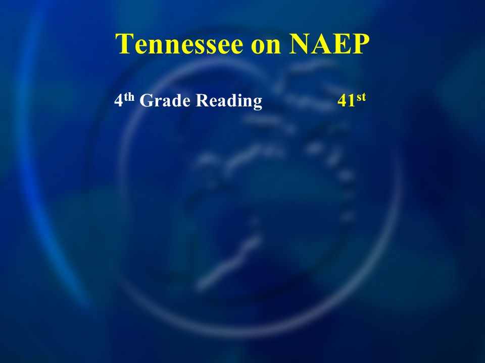 Tennessee on NAEP 4 th Grade Reading41 st