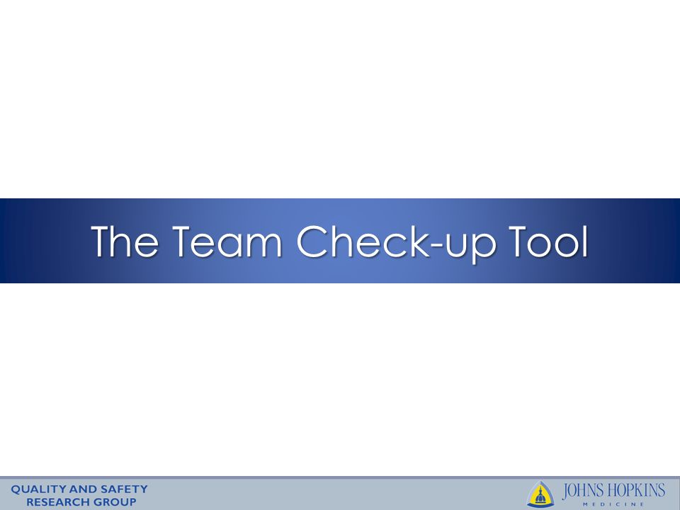 The Team Check-up Tool