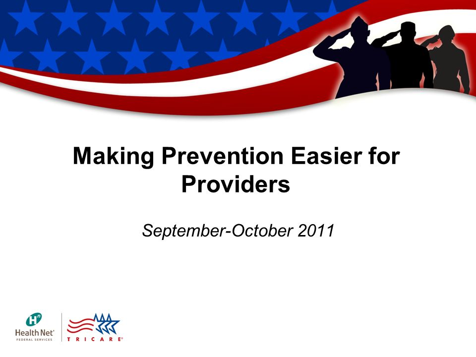 Making Prevention Easier for Providers September-October 2011