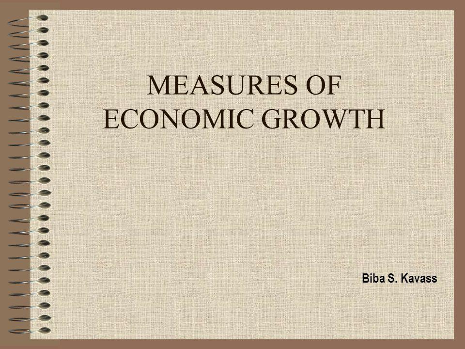 MEASURES OF ECONOMIC GROWTH Biba S. Kavass