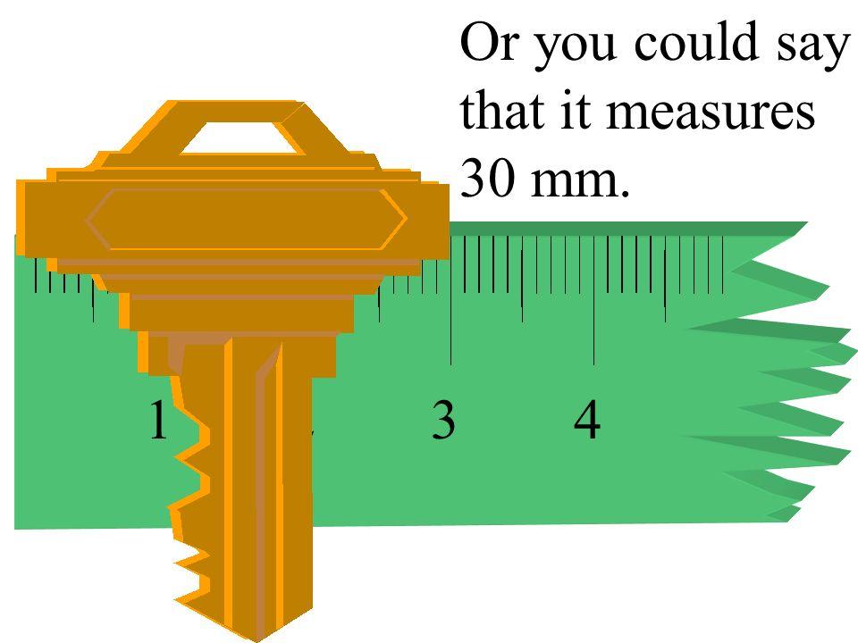 1234 This key measures 3 cm.