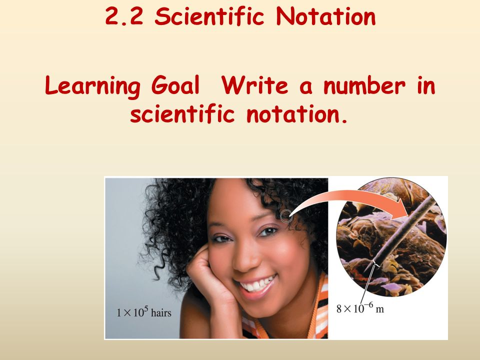 2.2 Scientific Notation Learning Goal Write a number in scientific notation.
