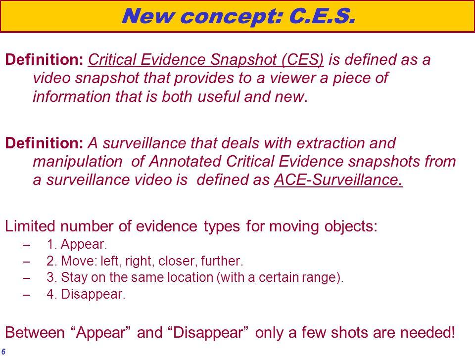 6 New concept: C.E.S.