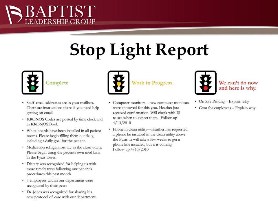 Stop Light Report