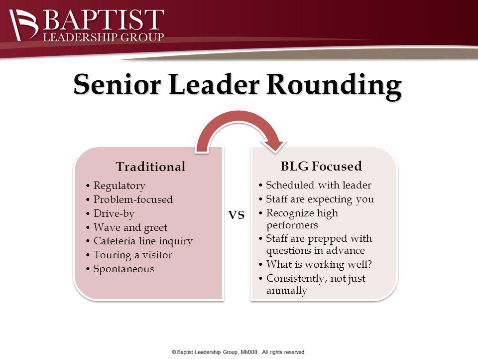 Senior Leader Rounding VS