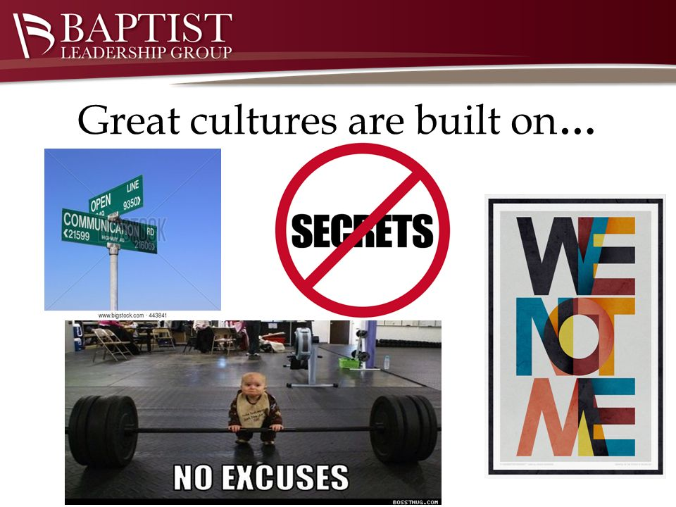 Great cultures are built on …
