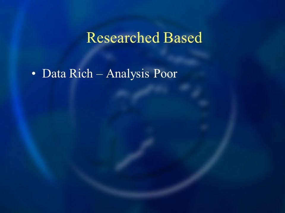 Researched Based Data Rich – Analysis Poor Meta Analysis