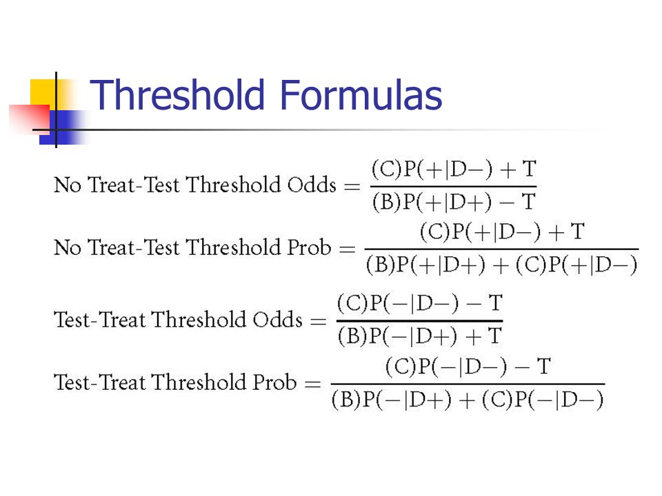 Threshold Formulas