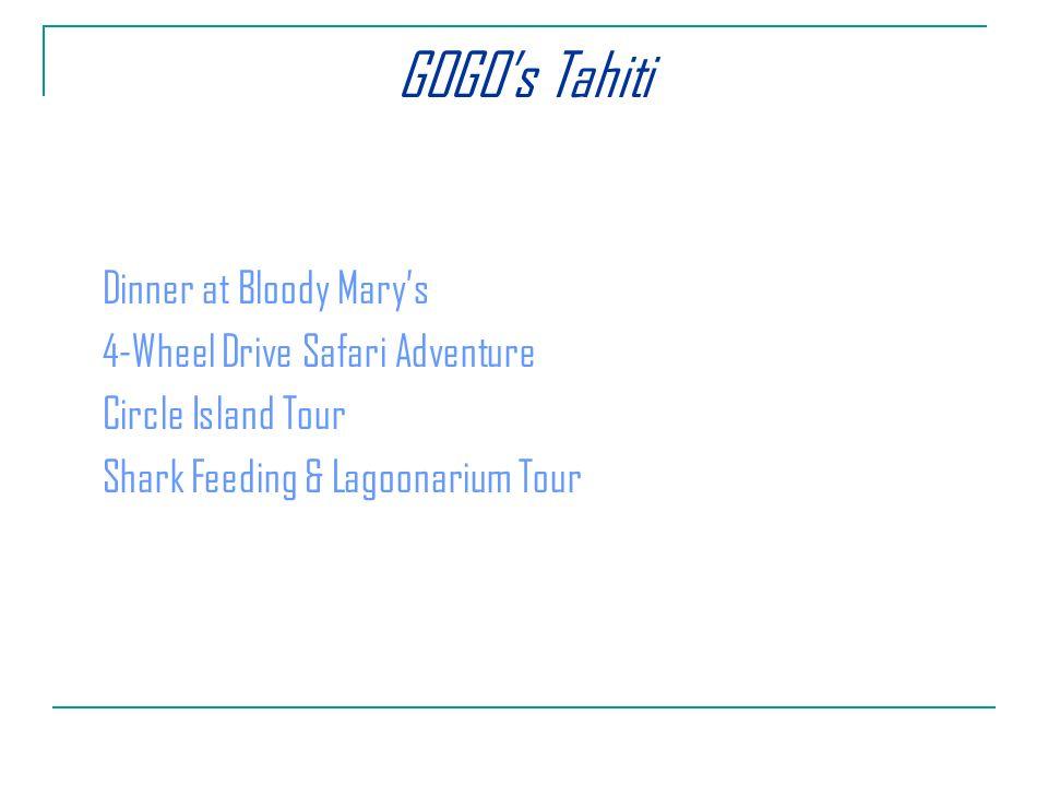 Dinner at Bloody Marys 4-Wheel Drive Safari Adventure Circle Island Tour Shark Feeding & Lagoonarium Tour