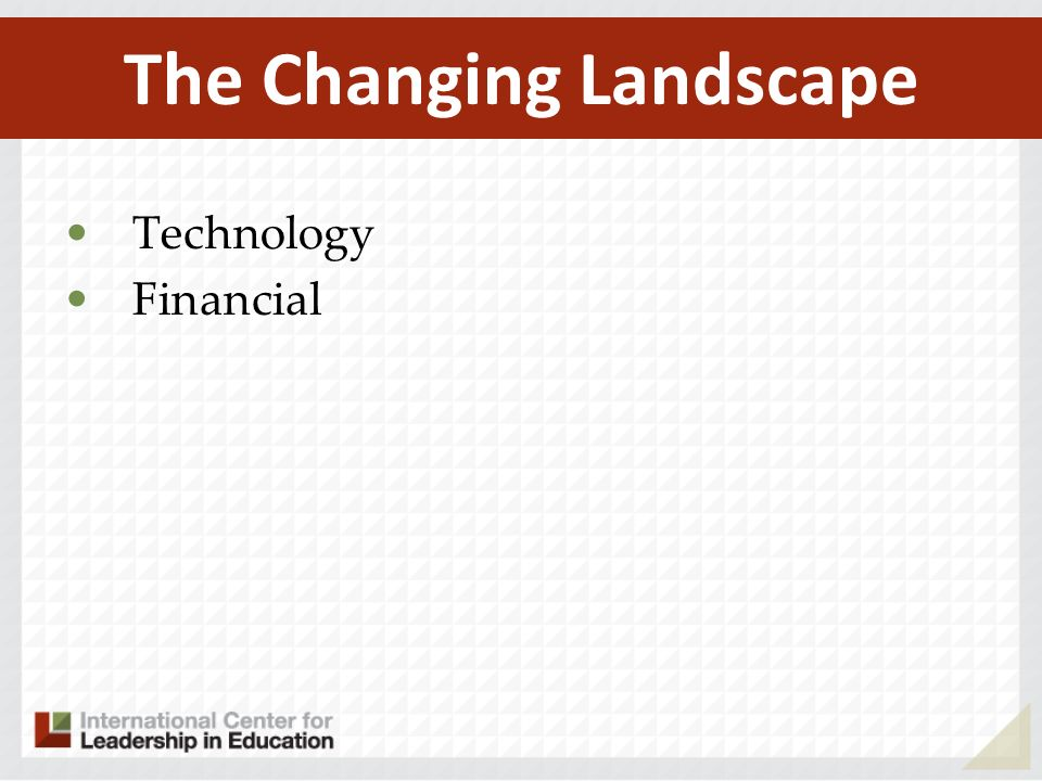Technology Financial The Changing Landscape