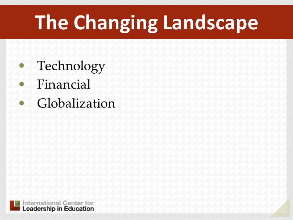 Technology Financial Globalization The Changing Landscape