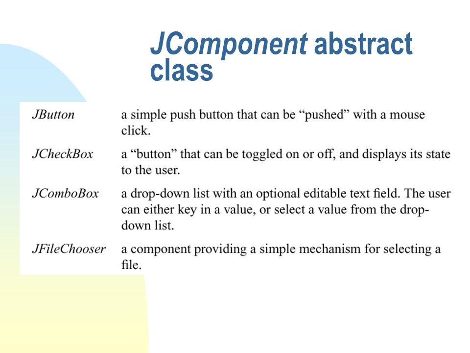 JComponent abstract class
