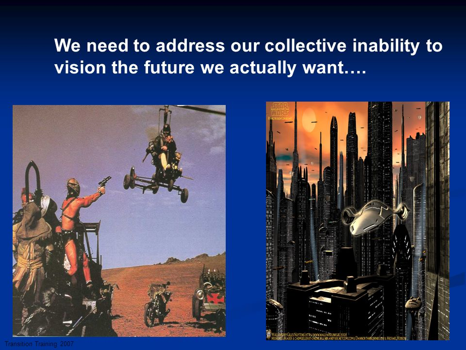 We need to address our collective inability to vision the future we actually want….