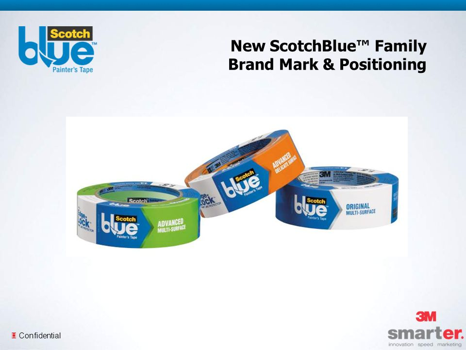 3 Confidential New ScotchBlue Family Brand Mark & Positioning