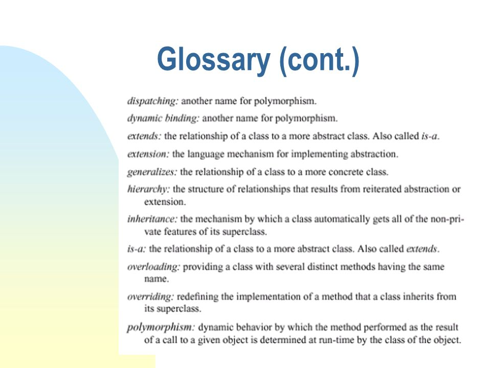 Glossary (cont.)