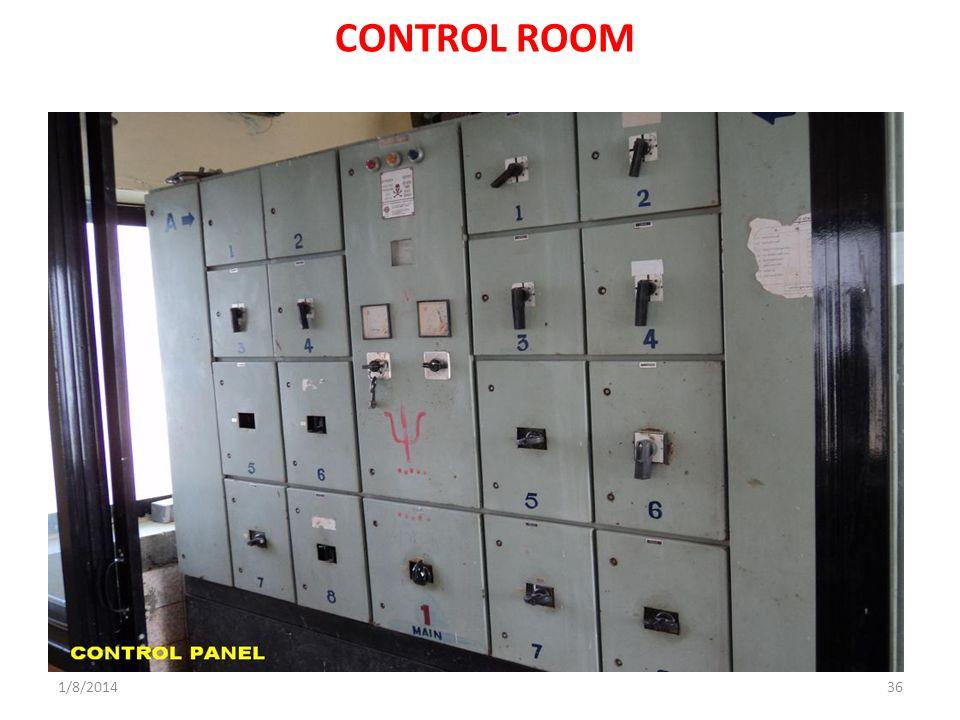 1/8/201436 CONTROL ROOM