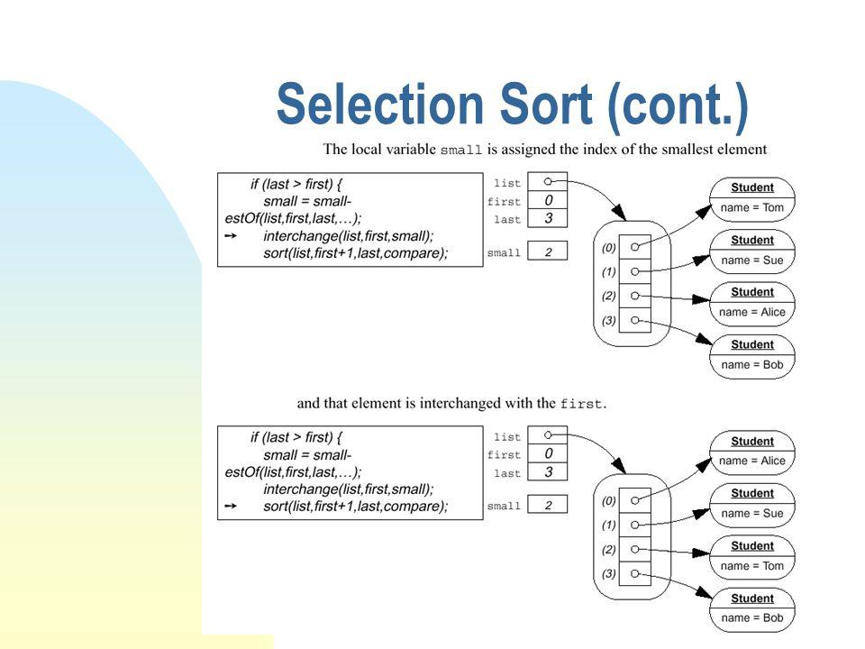 Quick sort (cont.) 1.