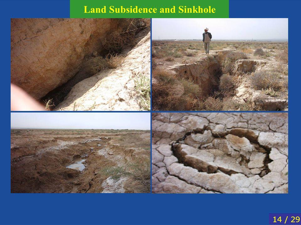 14 / 29 Land Subsidence and Sinkhole