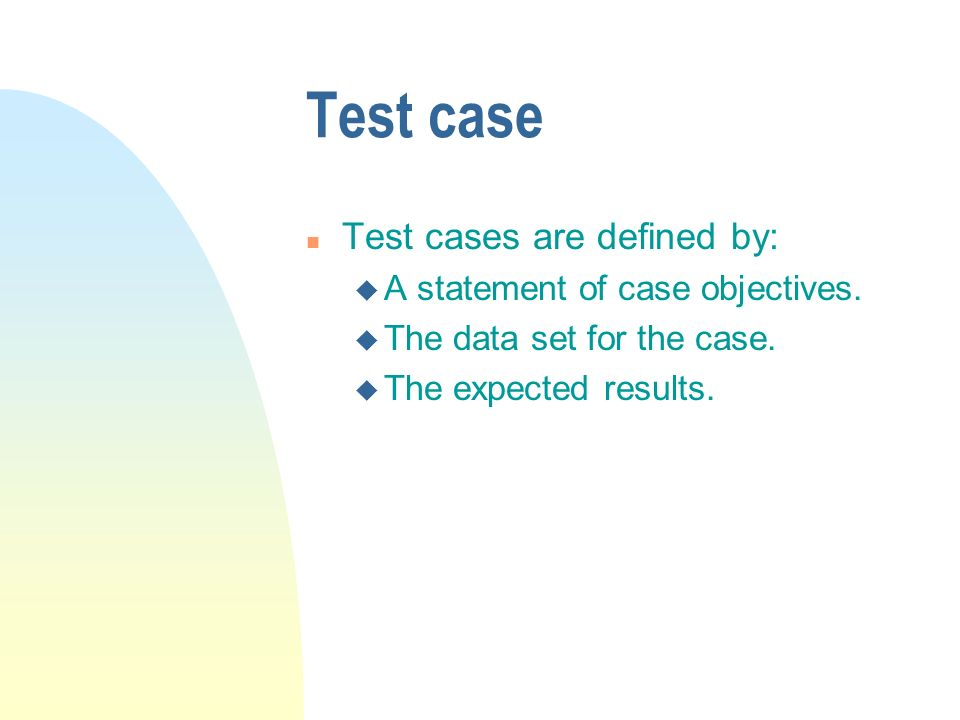 Equivalency groups n Test cases are chosen from each equivalency group.