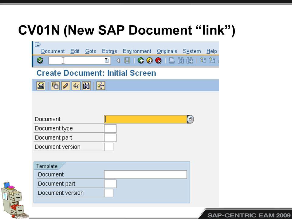 CV01N (New SAP Document link)