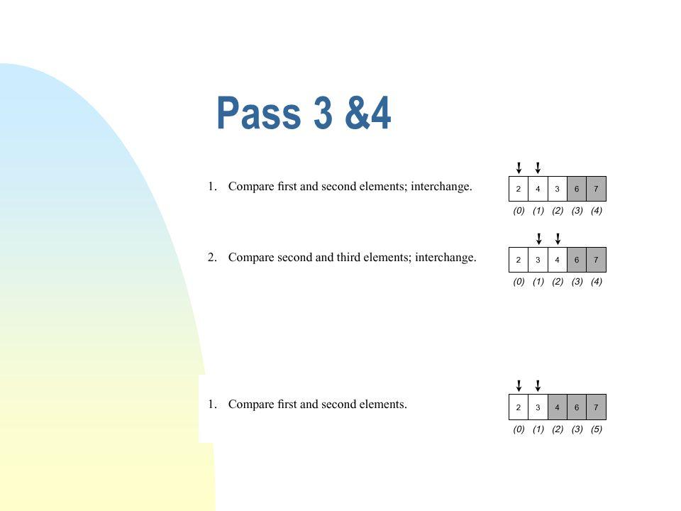 Pass 3 &4