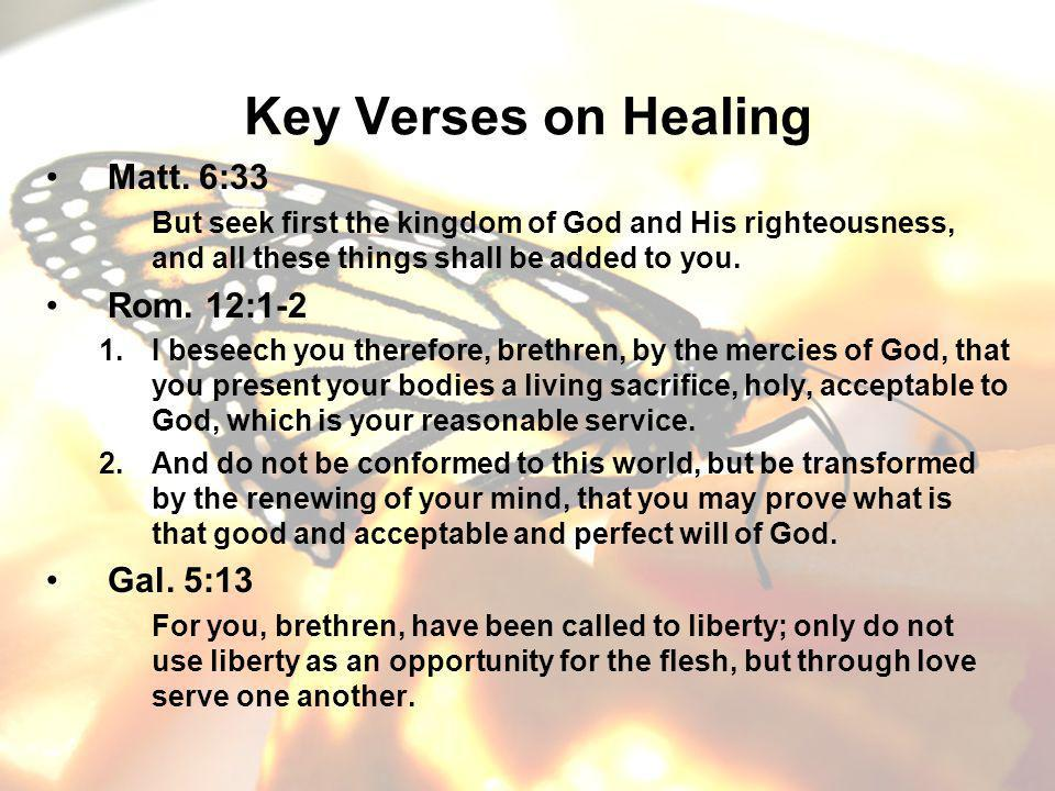 Key Verses on Healing Matt.